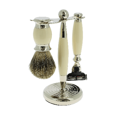 Vulfix Edwardian  Ivory Shaving set suitable for Mach 3