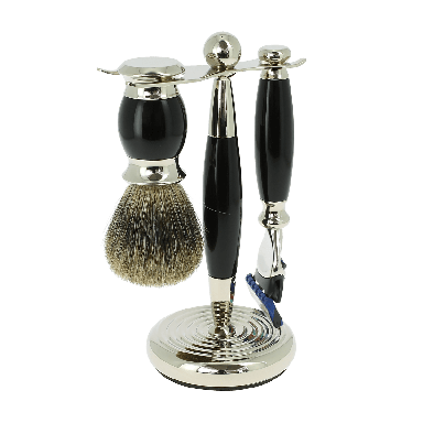 Vulfix Edwardian Fusion Black Shaving Set