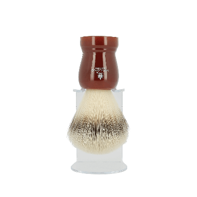 Vie-Long Synthetic Hair Shaving Brush Deep Red