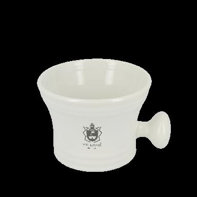 Vie-Long Classic Shaving Mug White Porcelain