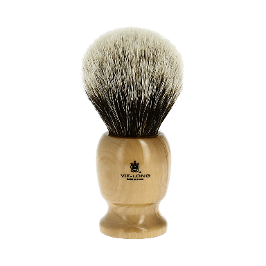 Vie-Long Badger Hair Brush and Stand Light Wood