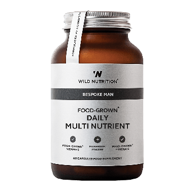 Wild Nutrition Men's Food-Grown® Daily Multi Nutrient (60 Capsules)
