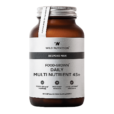 Wild Nutrition Men's 45+ Food-Grown® Daily Multi Nutrient (60 Capsules)