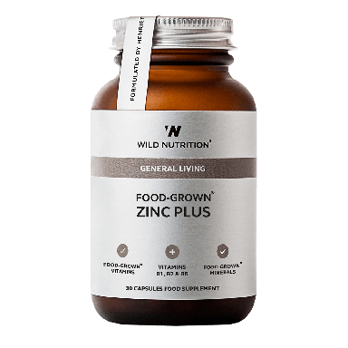 Wild Nutrition Food-Grown® Zinc Plus (30 Capsules)