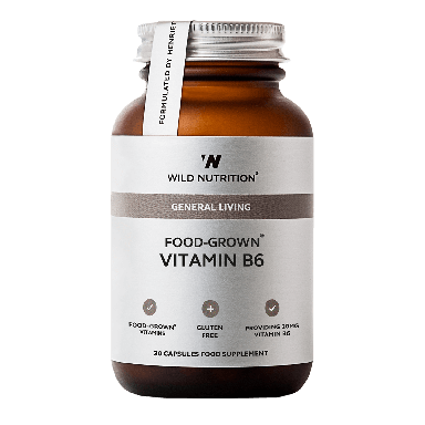 Wild Nutrition Food-Grown® Vitamin B6 (60 Capsules)