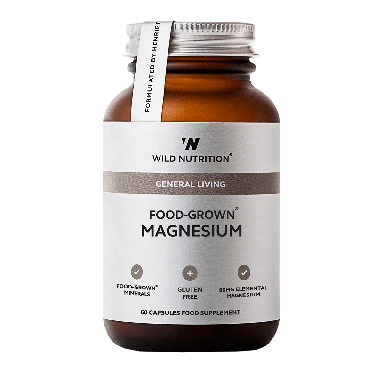 Wild Nutrition Food-Grown® Magnesium (60 Capsules)
