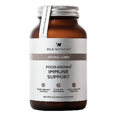 Wild Nutrition Food-Grown® Immune Support (60 Capsules)