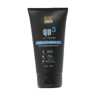 ZEOS for Men QU3 Hair & Body Shower Gel 150ml