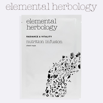 Buy any two Elemental Herbology products and get a free Elemental Herbology Nutrition Infusion Sheet Mask