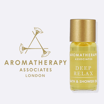 Buy 1 or more Aromatherapy Associates product and receive a free mini Deep Relax Bath Oil.