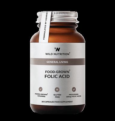 Wild Nutrition Food-Grown® Folic Acid (30 Capsules)