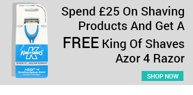 get a free king of shaves azor 4 razor when you spend £25 on shaving products