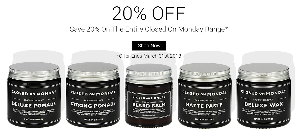 Save 20% On The Entire Closed On Monday Range