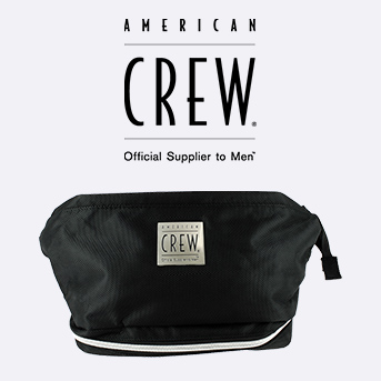 Spend £50 or more on American Crew and get a free American Crew wash bag