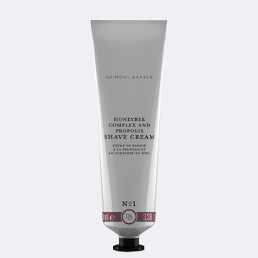 Enjoy a close, clean shave with Daimon Barber Shave Cream.