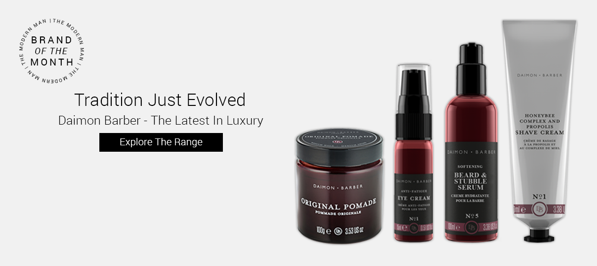 Check out our brand of the month, Daimon Barber.