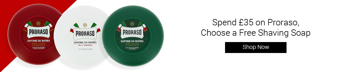 Spend £35 on Proraso and choose a free shaving bowl and soap!