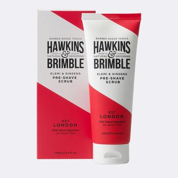 Scrub up with the Hawkins & Brimble Pre Shave Scrub