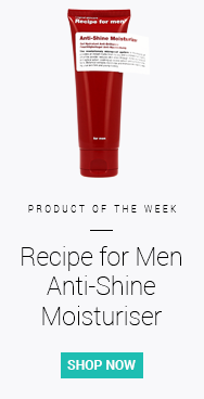 Balance your skin's oil levels and get the hydration you need but without the shine with Recipe for Men's Anti-Shine Moisturizer