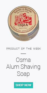 Our pick of the week for stopping shaving rash is Osma Alum Shaving Soap