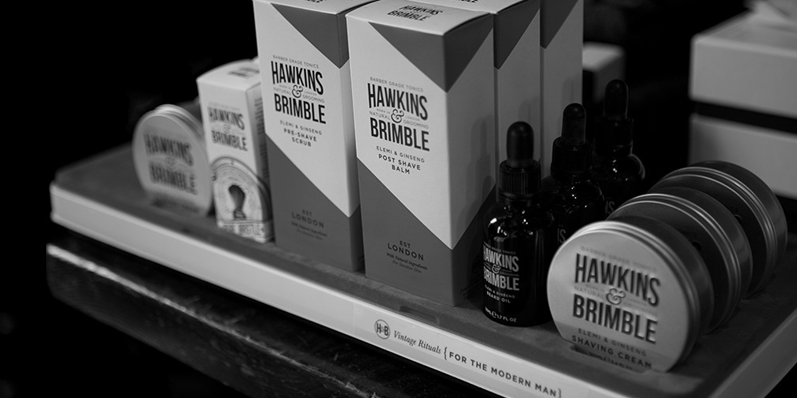 Hawkins & Brimble burst onto the male grooming scene in 2016. Natural formulas and eye-grabbing style makes Hawkins & Brimble an instant hit.