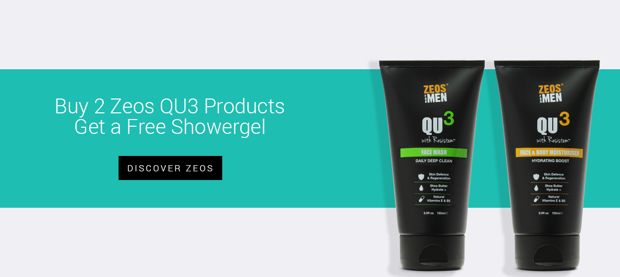 Buy two Zeos QU3 products, get a Zeos Showergel free